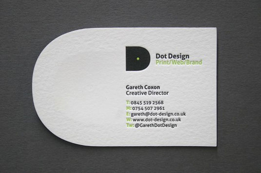 letterpress business cards: Dot design