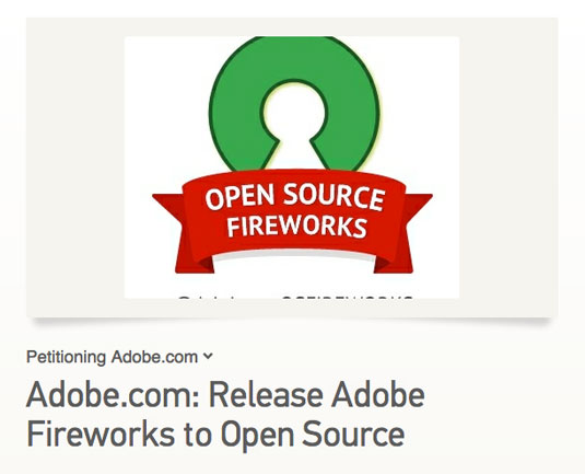 Petition Calls On Adobe To Open Source Fireworks