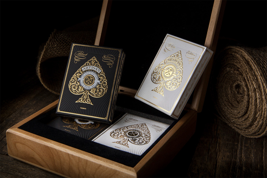 custom playing cards: White Artisan Playing Cards