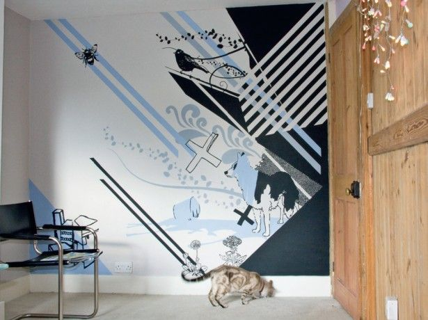 Create a wall mural creative bloq for Creative mural art