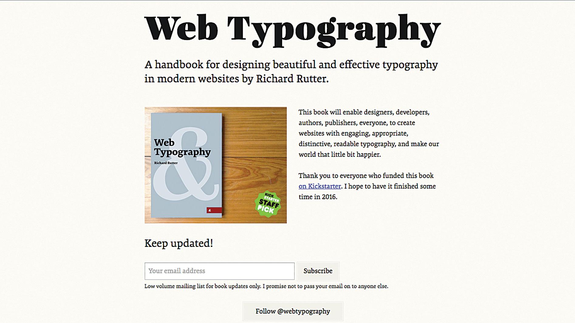 New skills in web design - Typographic principles