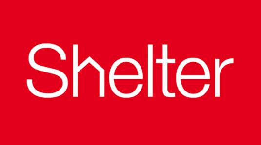 Shelter identity, by johnson banks