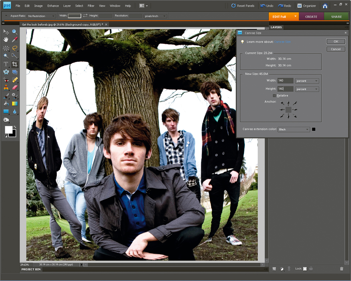 Recreate a fish eye effect with photoshop creative bloq for Fish eye effect