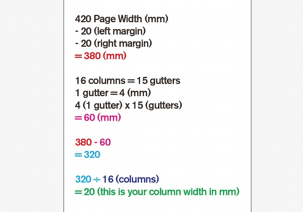 Use a column grid: step 4
