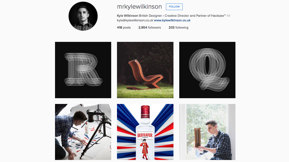 Graphic designers to follow on Instagram: Kyle Wilkinson