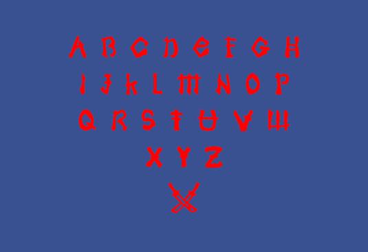 Free fonts: Samoerai