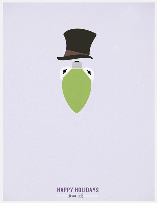 Minimalist Christmas posters: Muppets