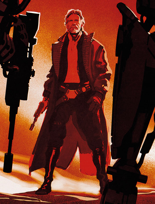 The Art of Star Wars: The Force Awakens han solo
