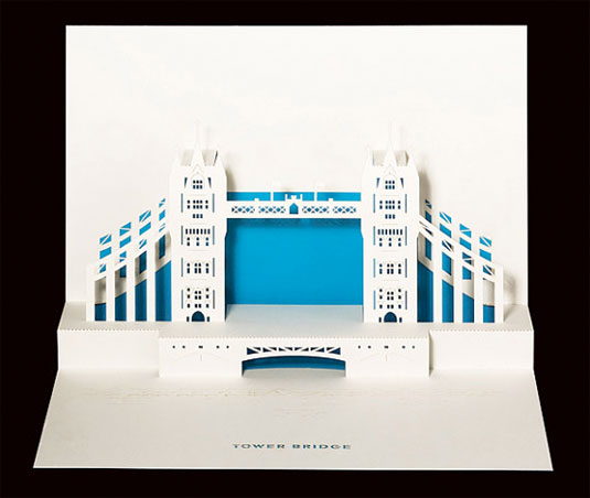 london 3D greeting card
