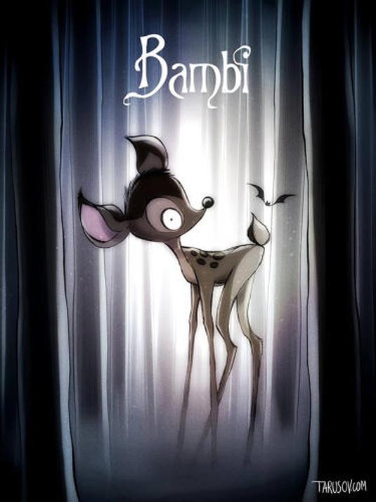 Disney films Tim Burton style: Bambi