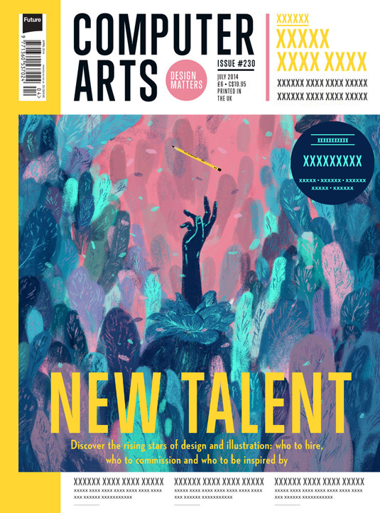 Cover design for CA's New Talent issue by Sam Rowe