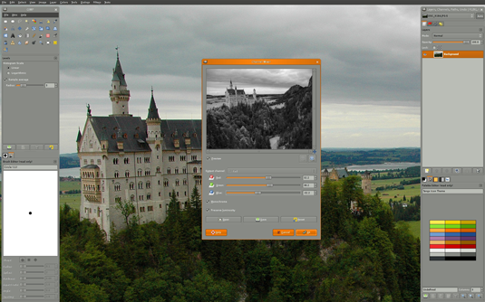 Free graphic design software: GIMP