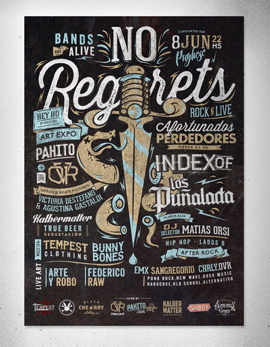 flyer design: No regrets