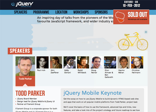 parallax scrolling: jQuery conference