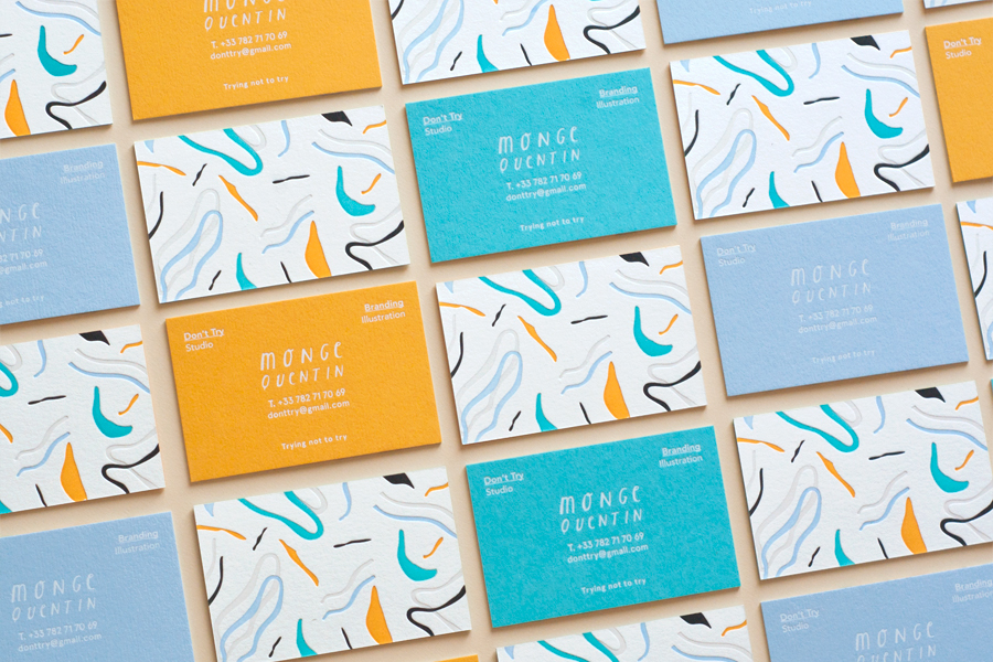 letterpress business cards: Don't try studio