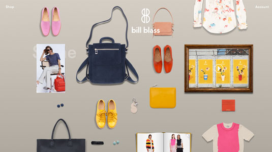 Ecommerce website designs: Bill Blass