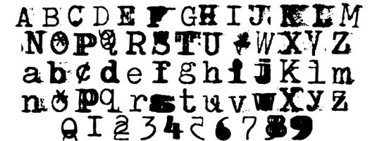 Free typewriter fonts: Brenton Scrawl Type