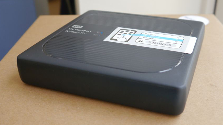 Western Digital My Passport Wireless Pro top