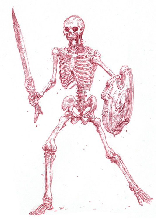 skeleton sketch 1