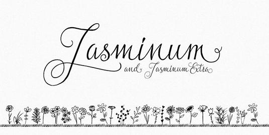 Jasminium font
