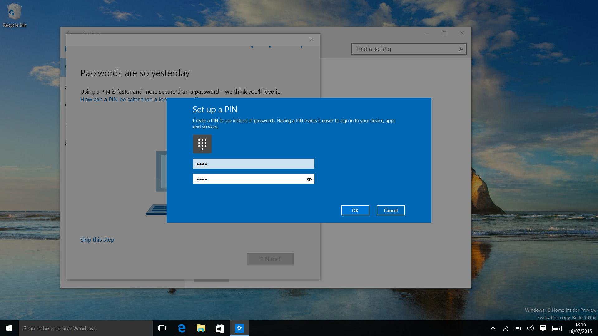 Windows PIN