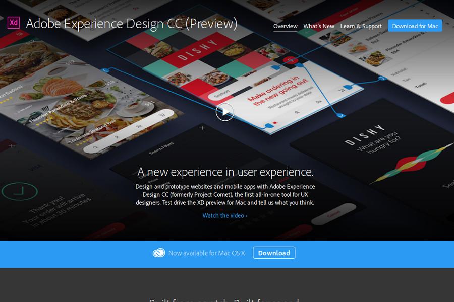 web design tools: Adobe Xd