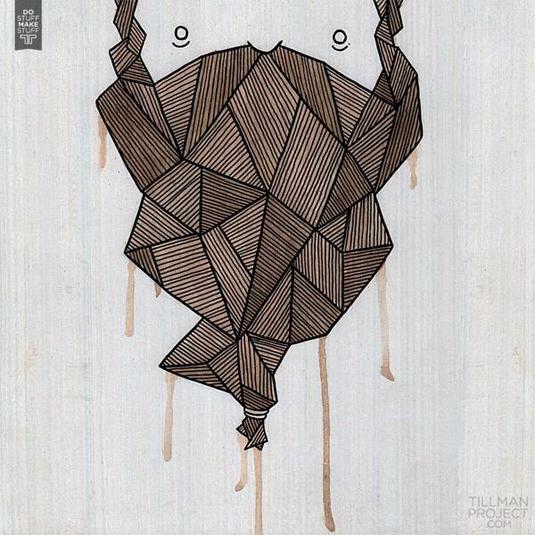wooden illustrations