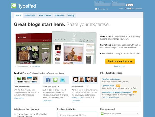 Free CMS guide: TypePad