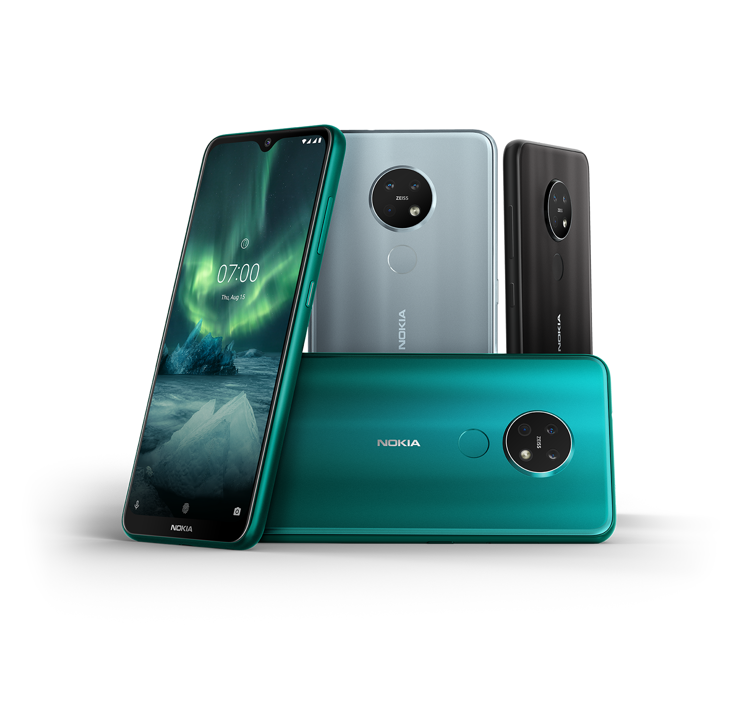 Nokia 7.2 in different colors