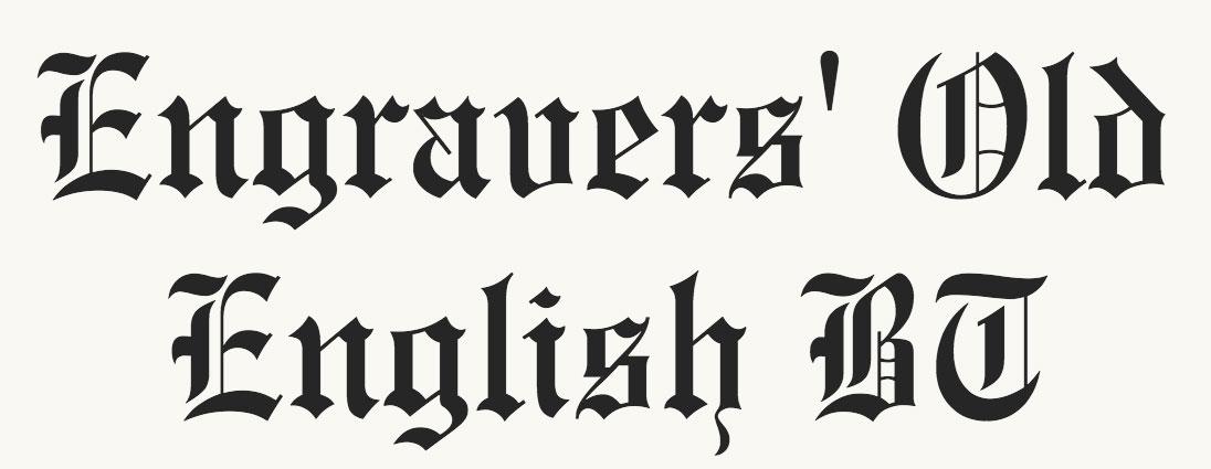 Old English fonts: 10 of the best - Ειδήσεις από τον χώρο του Design