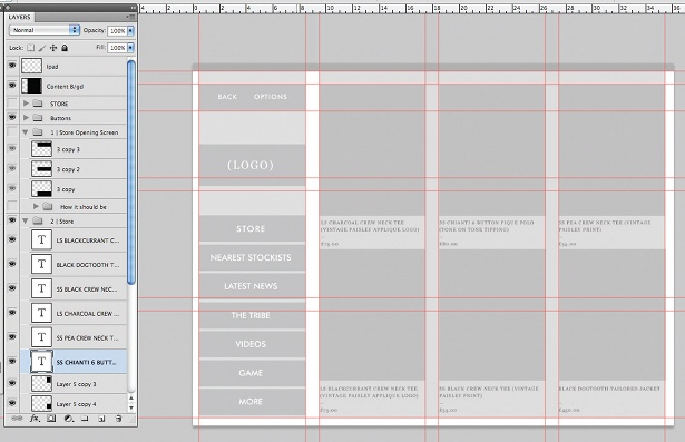 Design an iPad app UI in Photoshop: step 8