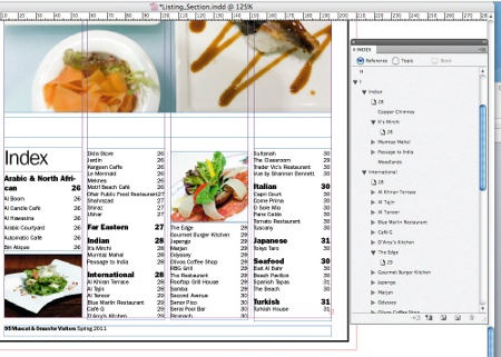 Create an index in InDesign: step 9