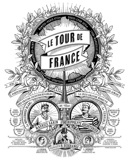 Otto Von Beach's Tour de France logo artwork