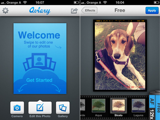 Aviary free photo editors
