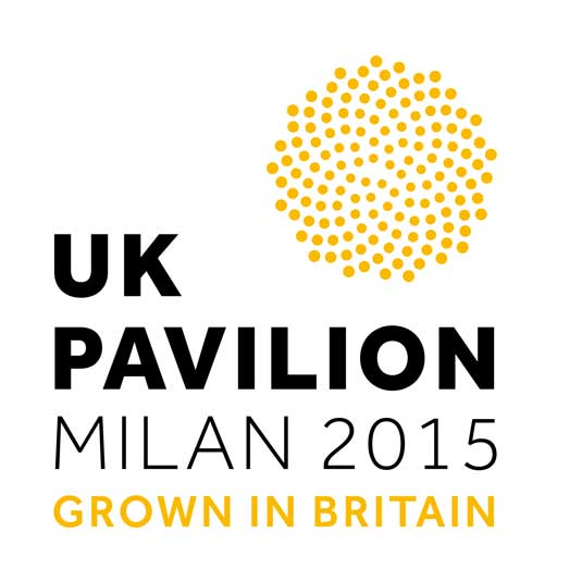 logo for the UK Pavilion at Milan