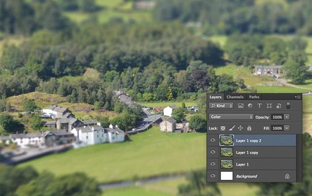 Tilt shift in Photoshop: Step 4