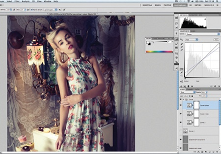 Retouch images with frequency separation: step 11