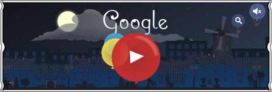 Google doodle: Debussy