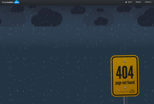 404 pages: Dailymotion Cloud