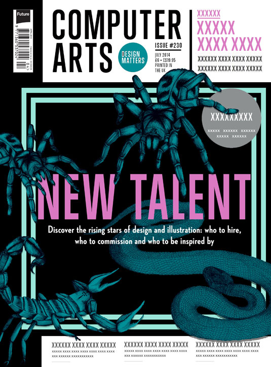 Cover design for CA's New Talent issue by Holly Ovenden
