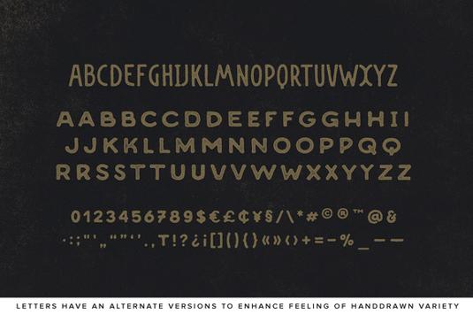 Desiderata font