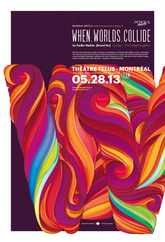 how to design a poster: Montreal Meets