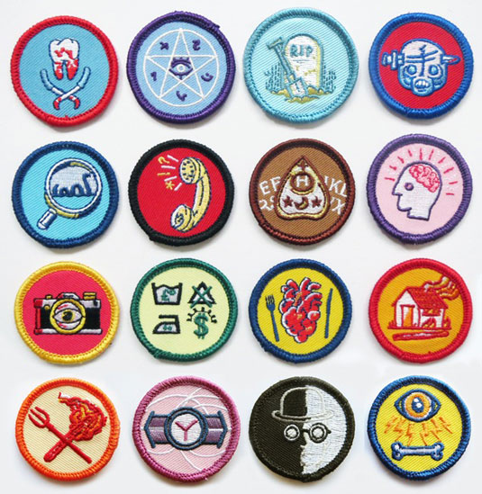 Twisted scout badges