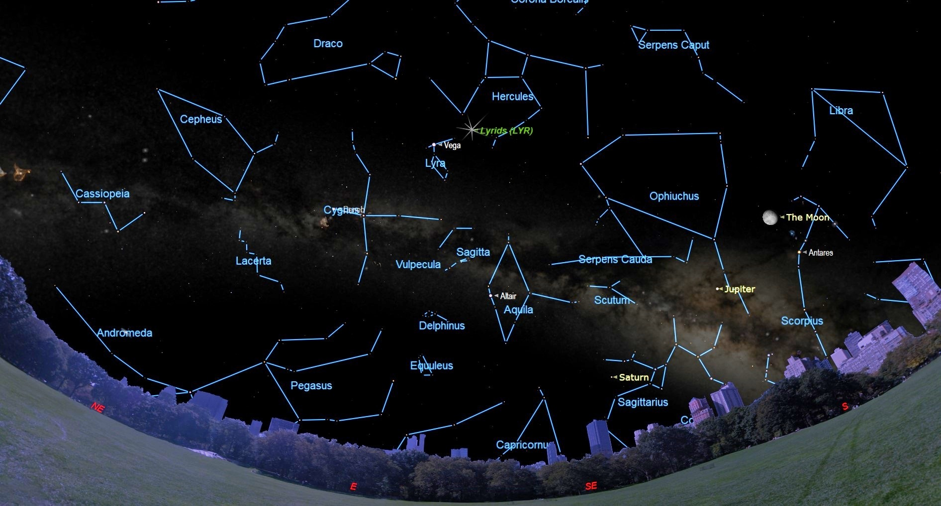 April's Lyrid Meteors Peak Early this Week, But the Moon May Interfere