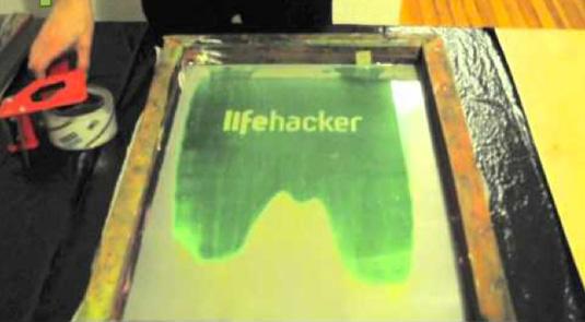 Screen printing: Lifehacker
