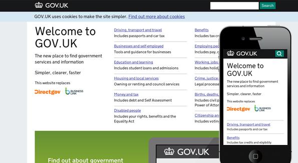 Best responsive websites: Gov.uk