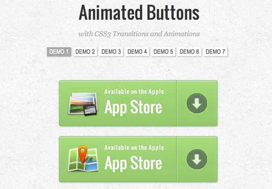 CSS3 animation: Animated buttons