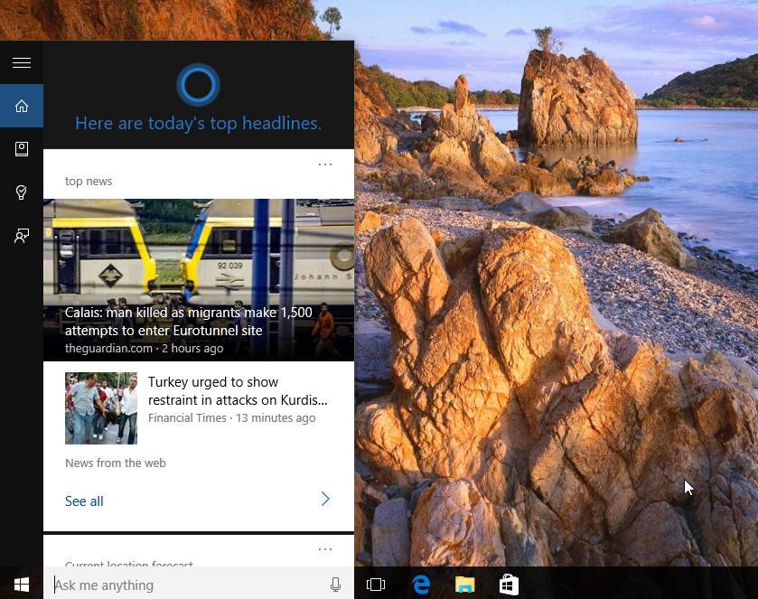 W10 Cortana