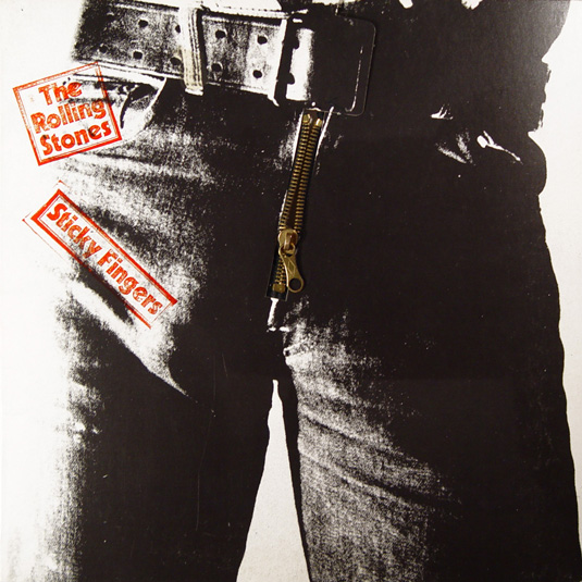 70s album covers: Sticky Fingers