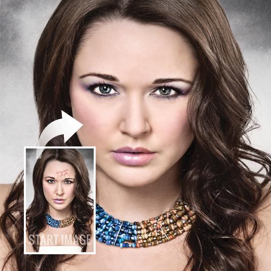 Apply digital eye make-up in Photoshop